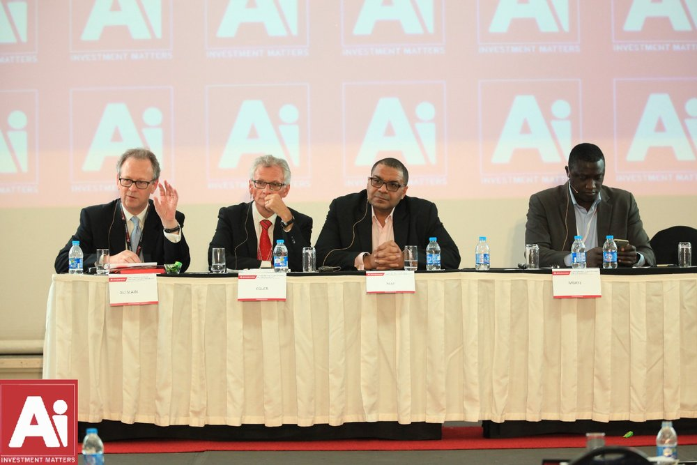 AfDB Vice President Pierre Guislain and Water/ICT panel