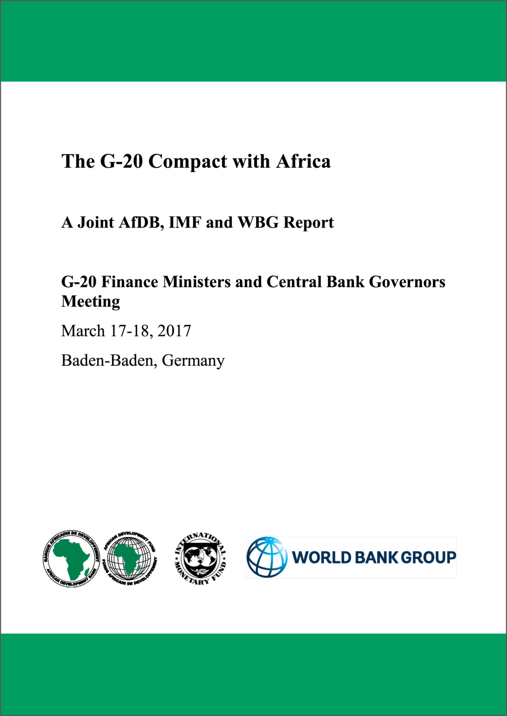 G-20 Compact with Africa Report