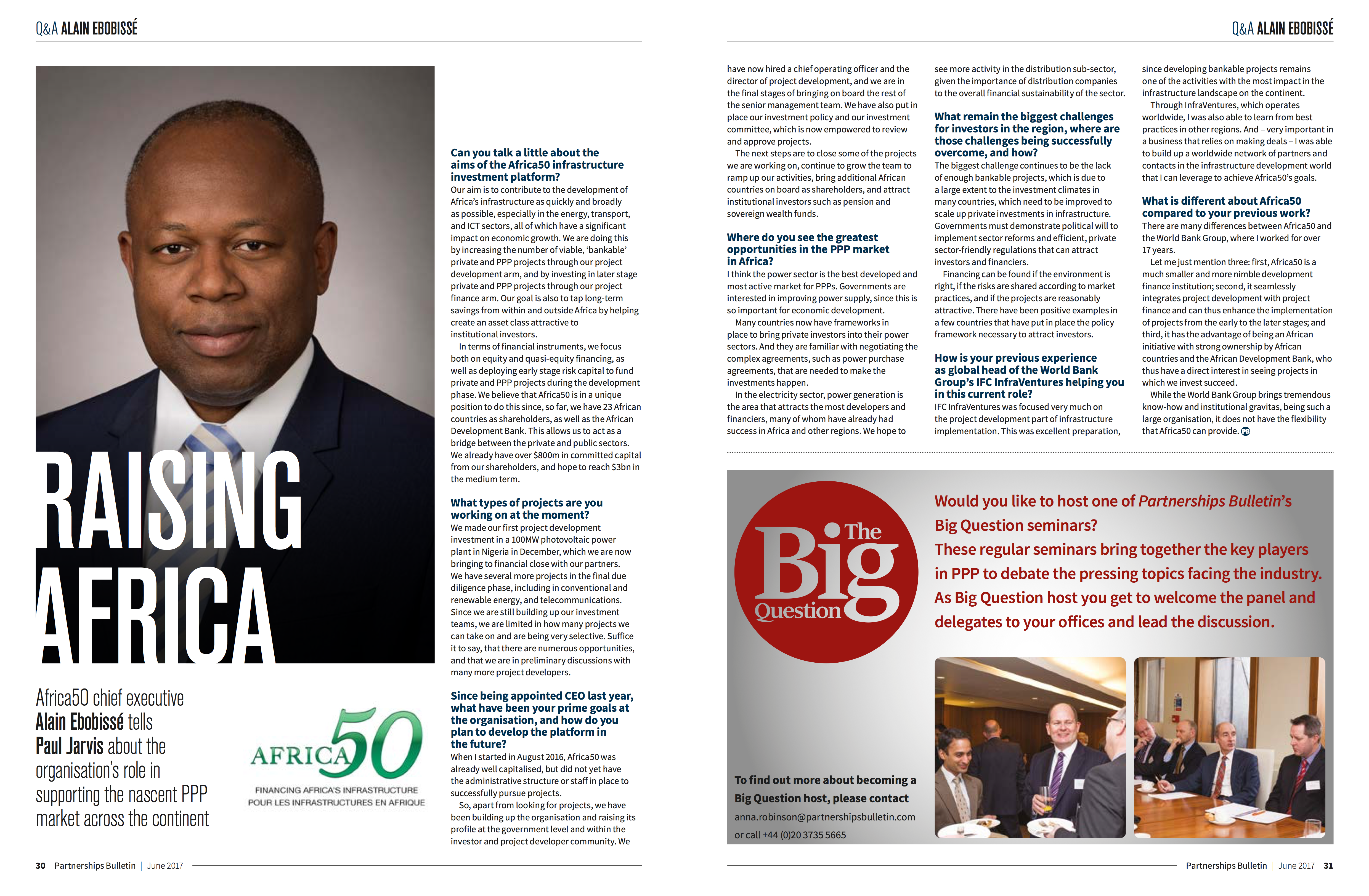 Partnerships Bulletin: interview with Africa50 CEO, Alain Ebobisse