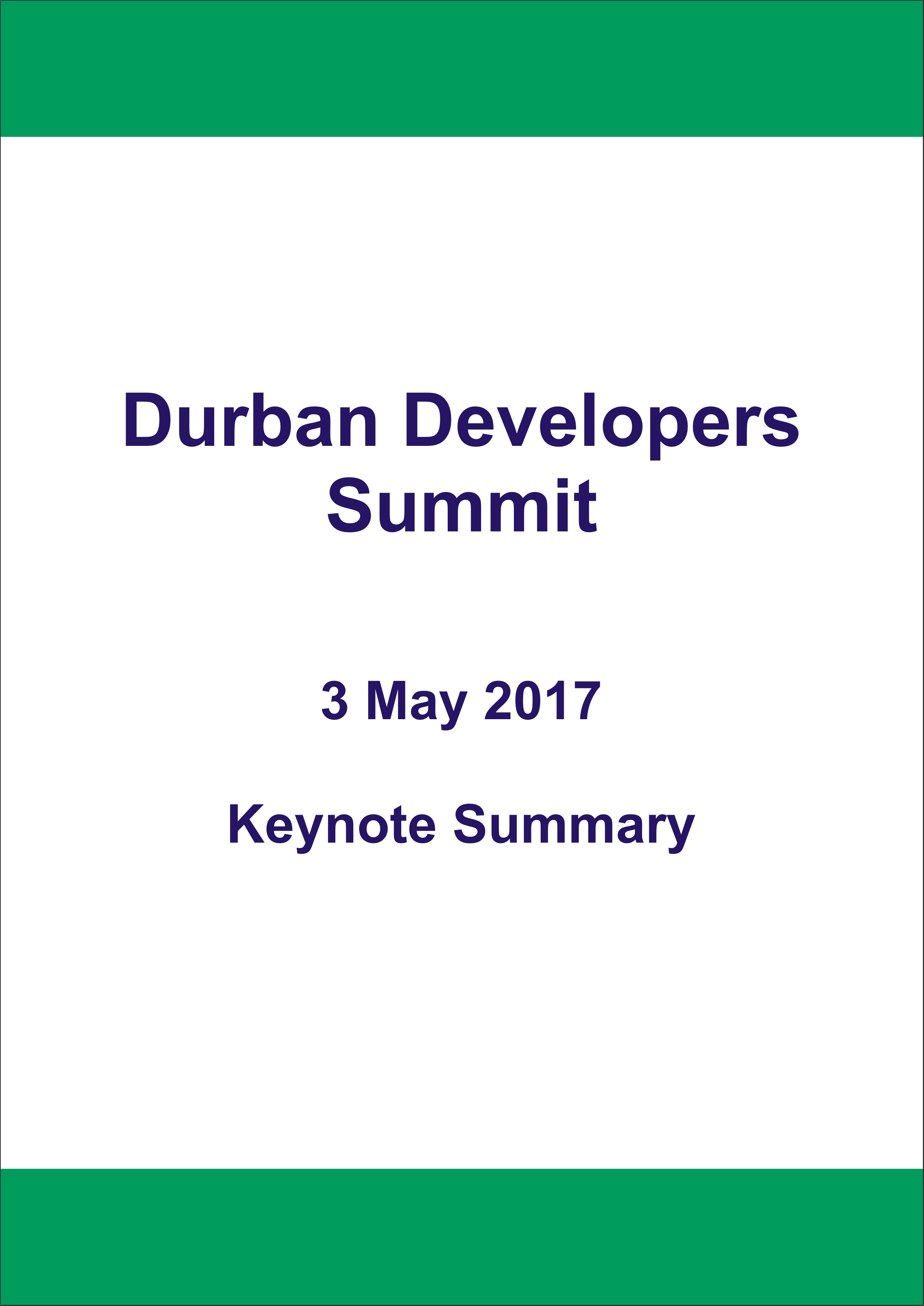 Durban Developers Summit 2017