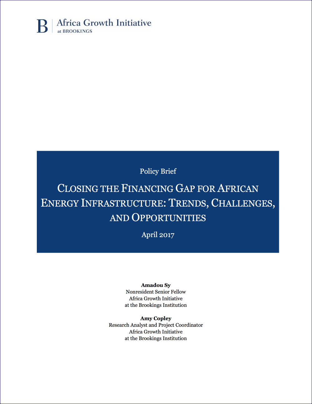 Closing The Financing Gap for African Energy Infrastructure