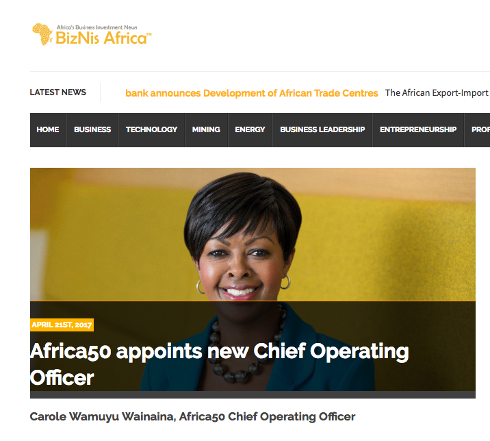 Biznis Africa: Africa50 appoints new Chief Operating Officer