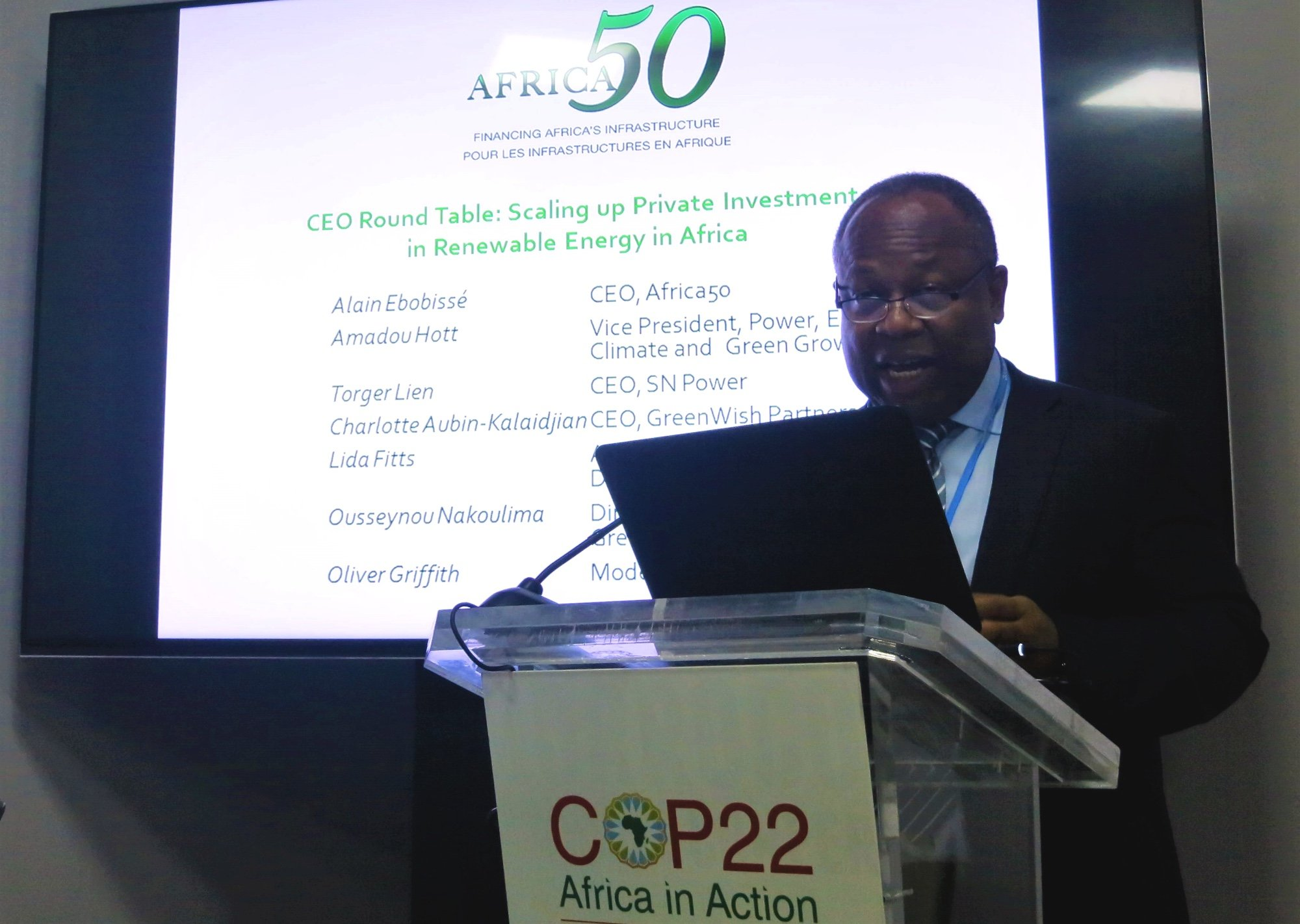 Africa50 Hosts COP22 Event on Renewable Energy
