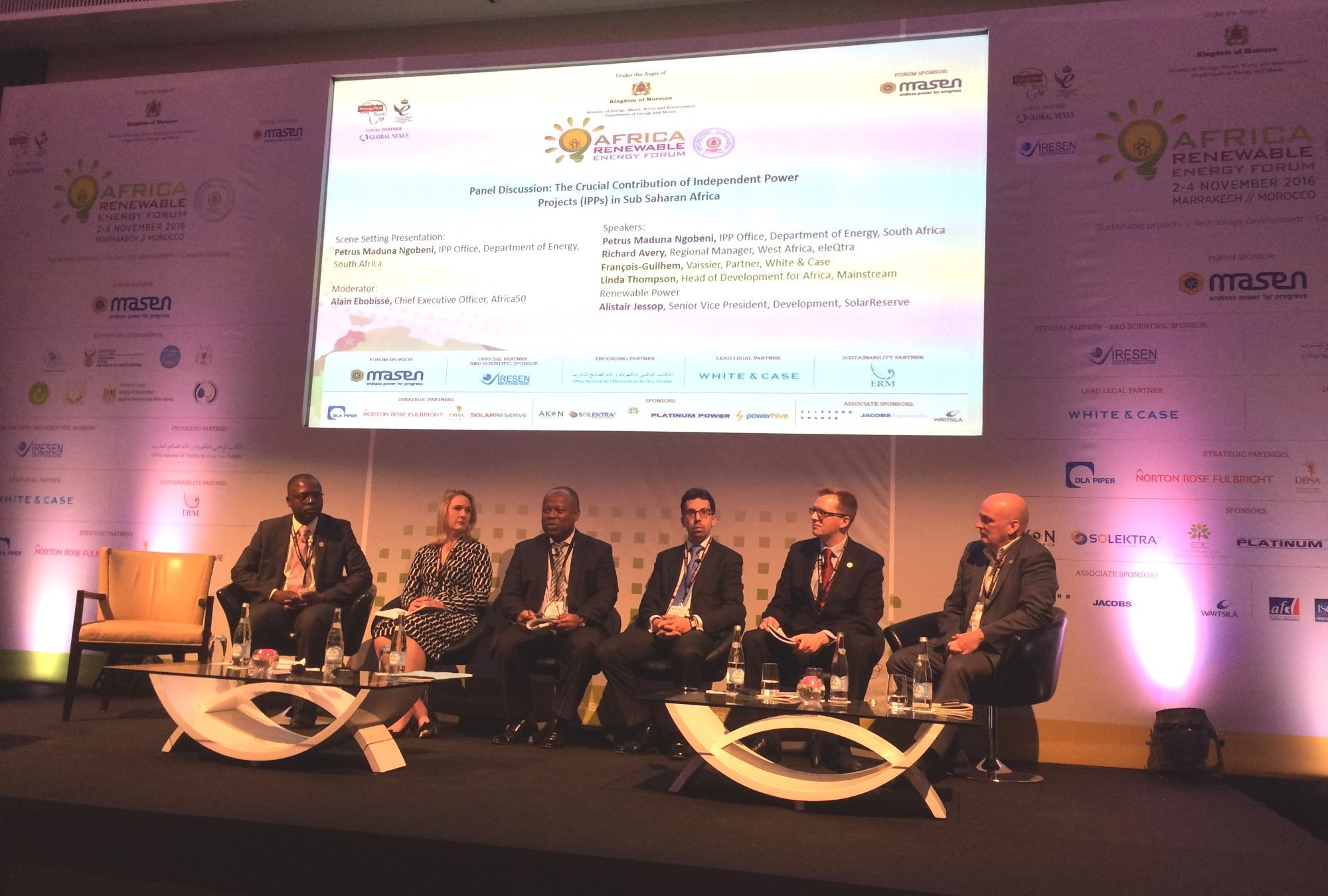 Photo of panel at ndependent Power Projects (IPP) at the Africa Renewable Energy Forum